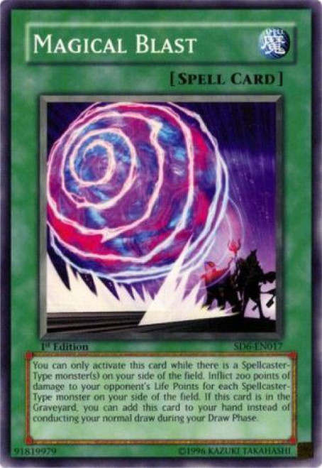 YuGiOh Structure Deck: Spellcaster's Judgment Common Magical Blast SD6-EN017
