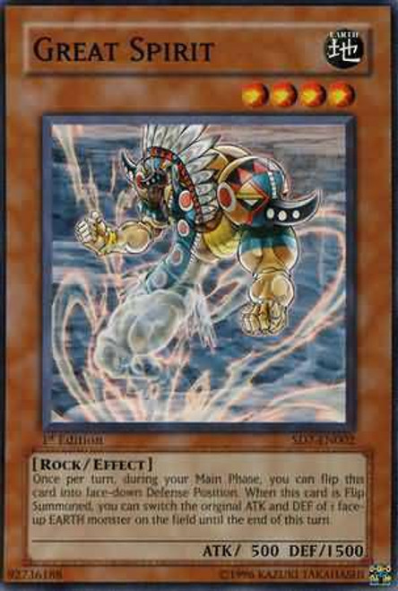 YuGiOh Structure Deck: Invincible Fortress Common Great Spirit SD7-EN002