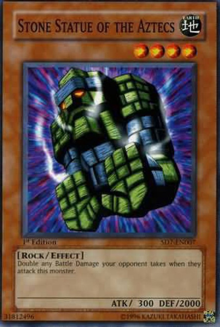 YuGiOh Structure Deck: Invincible Fortress Common Stone Statue of the Aztecs SD7-EN007