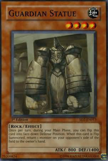 YuGiOh Structure Deck: Invincible Fortress Common Guardian Statue SD7-EN013