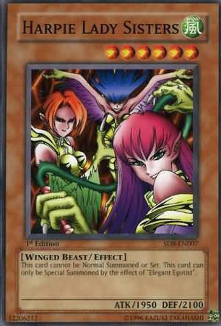 YuGiOh GX Trading Card Game Structure Deck: Lord of the Storm Common Harpie Lady Sisters SD8-EN007