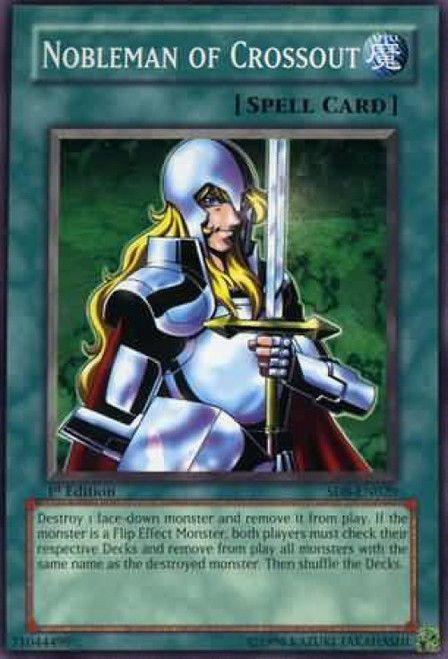 YuGiOh GX Trading Card Game Structure Deck: Lord of the Storm Common Nobleman of Crossout SD8-EN020