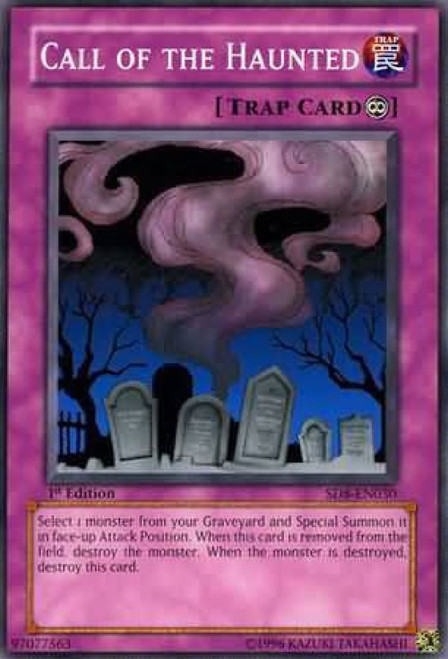 YuGiOh GX Trading Card Game Structure Deck: Lord of the Storm Common Call of the Haunted SD8-EN030