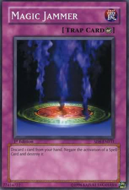 YuGiOh GX Trading Card Game Structure Deck: Lord of the Storm Common Magic Jammer SD8-EN031
