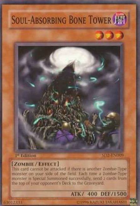 YuGiOh GX Trading Card Game Structure Deck: Zombie Madness Soul - Absorbing Bone Tower SD2-EN009