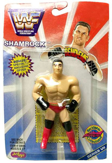 WWE Wrestling WWF Bend-Ems Series 7 Ken Shamrock Rubber Figure
