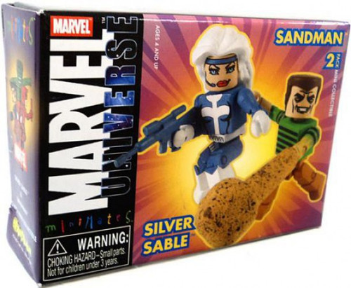 Marvel Universe Minimates Series 10 Silver Sable & Sandman 2 Minifigure 2-Pack