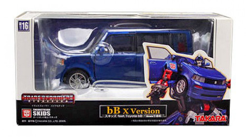 Transformers Japanese Binaltech Skids Midnight Blue Toyota Scion xB Action Figure BT-16