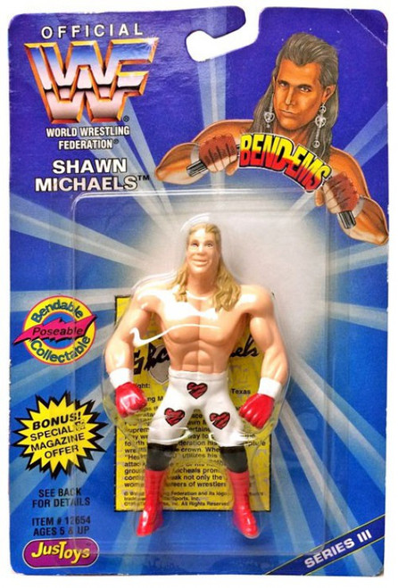 WWE Wrestling WWF Bend-Ems Series 3 Shawn Michaels Rubber Figure