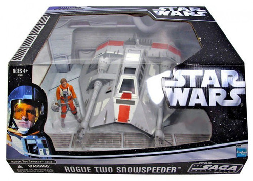Star Wars The Empire Strikes Back 2006 Saga Collection Rogue Two Snowspeeder with Zev Senesca Exclusive Action Figure & Vehicle