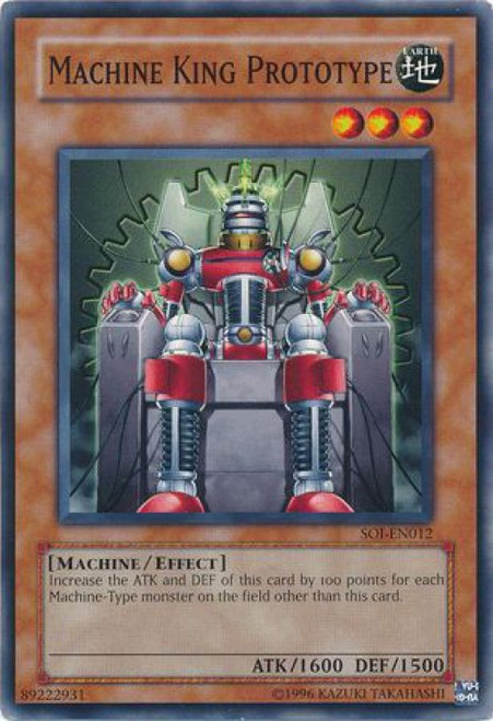 YuGiOh GX Trading Card Game Shadow of Infinity Common Machine King Prototype SOI-EN012