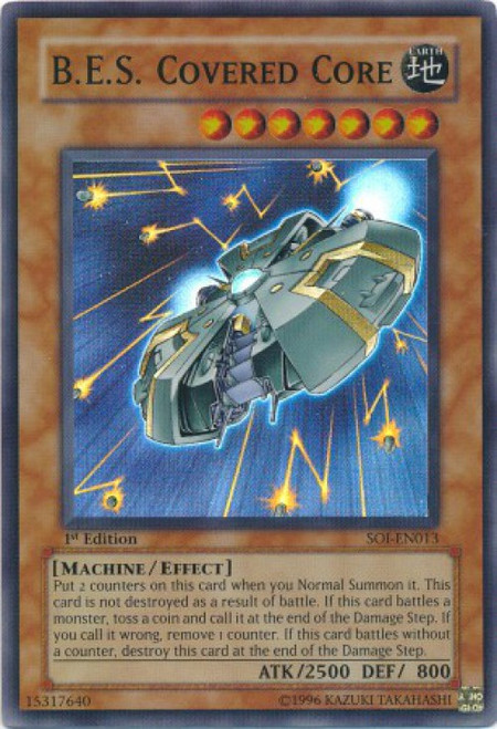 YuGiOh GX Trading Card Game Shadow of Infinity Super Rare B. E. S. Covered Core SOI-EN013