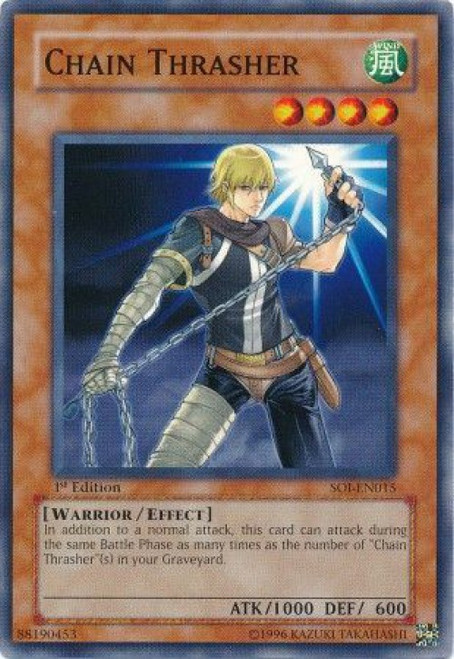 YuGiOh GX Trading Card Game Shadow of Infinity Common Chain Thrasher SOI-EN015