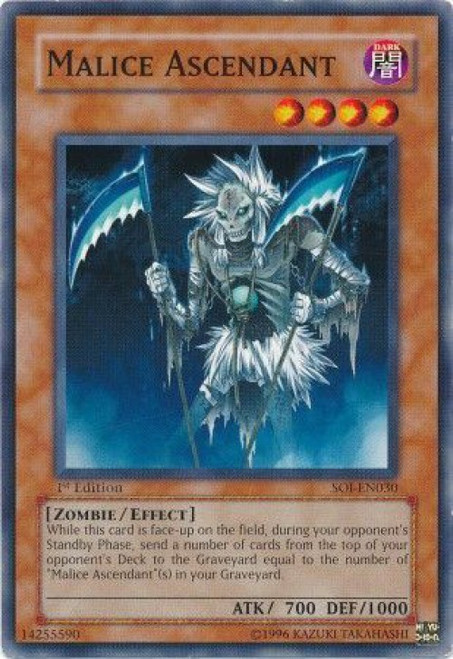 YuGiOh GX Trading Card Game Shadow of Infinity Common Malice Ascendant SOI-EN030