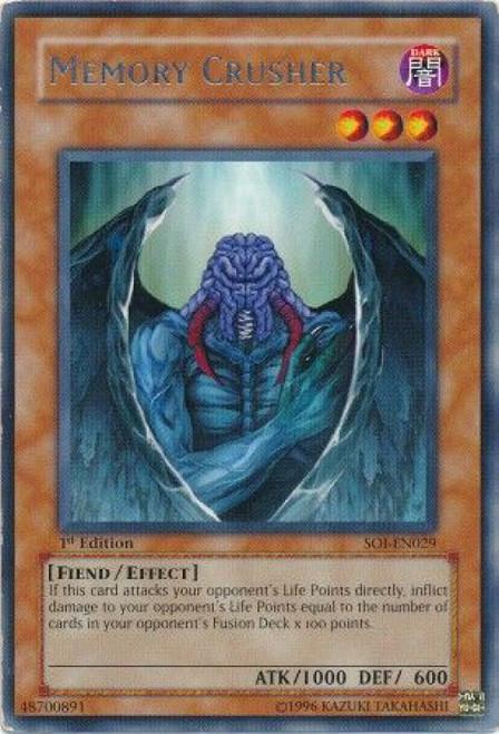 YuGiOh GX Trading Card Game Shadow of Infinity Rare Memory Crusher SOI-EN029
