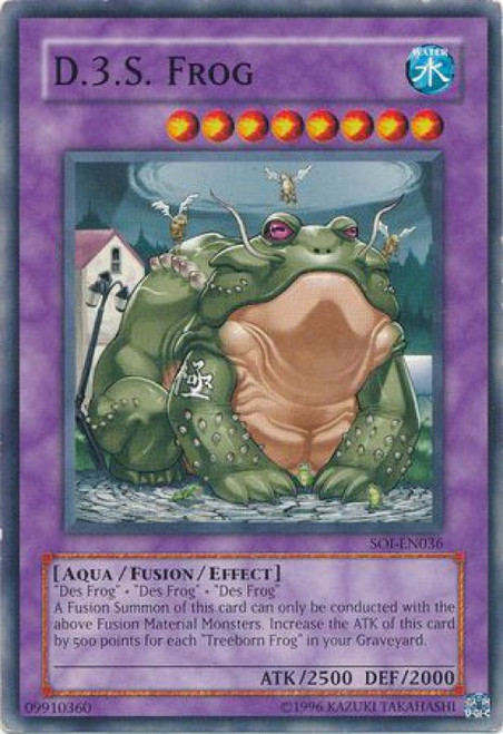 YuGiOh GX Trading Card Game Shadow of Infinity Common D.3.S. Frog SOI-EN036