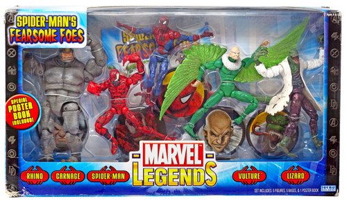 Marvel Legends Spider-Man's Fearsome Foes Action Figure 5-Pack [Spider-Man, Vulture, Carnage, Lizard & Rhino]