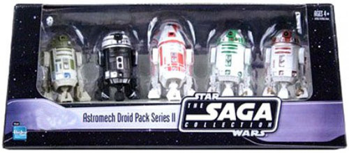 Star Wars 2006 Saga Collection Astromech Droid Pack Series II Exclusive Action Figure Set