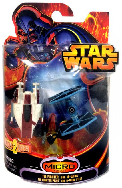 Star Wars Return of the Jedi Micro Vehicles TIE Fighter and A-Wing Exclusive Mini Vehicle 2-Pack