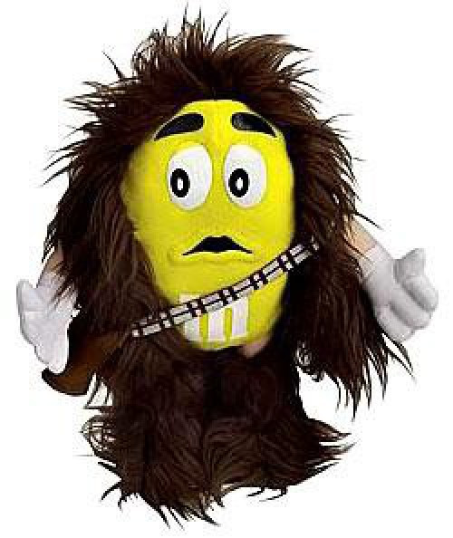 Star Wars M&Ms Chocolate Mpire Plush Buddies Series 1 Chewbacca Plush