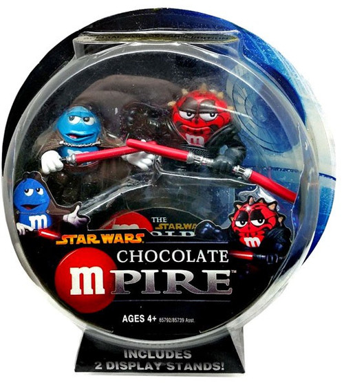 Star Wars M&Ms Chocolate Mpire Darth Maul & Count Dooku Action Figure 2-Pack