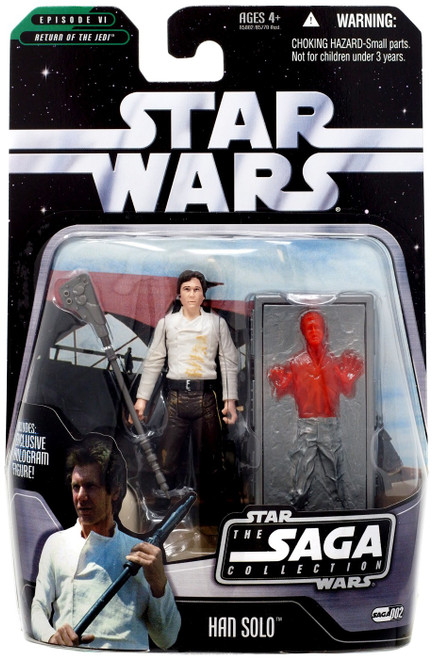Star Wars Return of the Jedi 2006 Saga Collection Han Solo Action Figure #02 [With Carbonite Block]