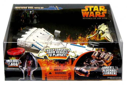 Star Wars Revenge of the Sith 2005 Mustafar Duel Battle Set Action Figure Accessory