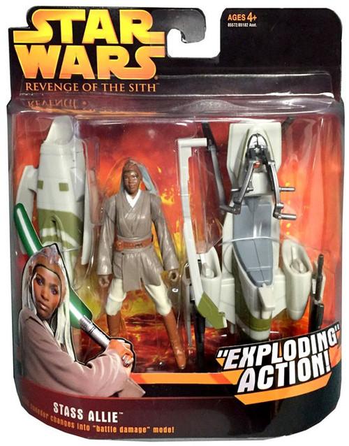 Star Wars Revenge of the Sith Stass Allie & BARC Speeder Action Figure