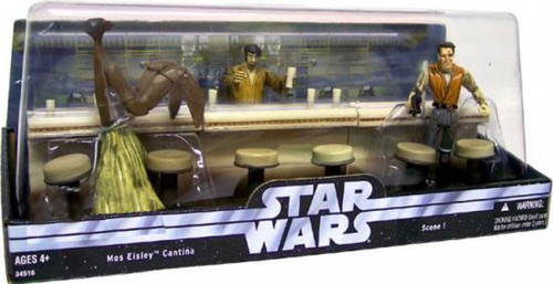 Star Wars A New Hope Cinema Scenes Mos Eisley Cantina Exclusive Action Figure Set [Scene 1]