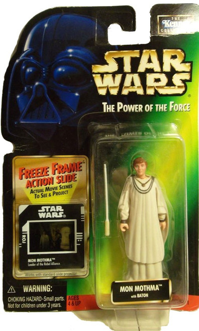 Star Wars Revenge of the Sith Power of the Force Freeze Frame Mon Mothma Action Figure [with Baton]