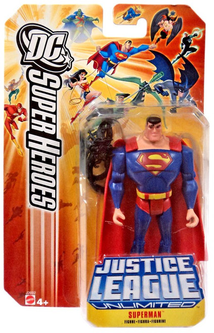 DC Justice League Unlimited Super Heroes Superman Action Figure [Black Mercy]