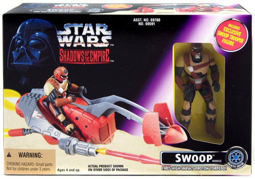 Star Wars Expanded Universe Power of the Force POTF2 Shadows of the Empire Swoop Bike Action Figure Vehicle