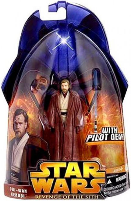Star Wars Revenge of the Sith 2005 Obi-Wan Kenobi Action Figure #55 [Red Leader Pilot]