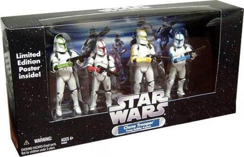 Star Wars Clone Trooper Troop Builders Exclusive Action Figure 4-Pack [Command Troopers, Battle Damaged]