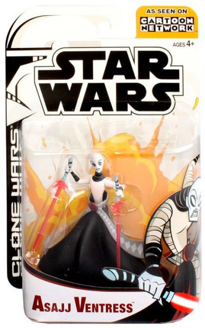Star Wars The Clone Wars Cartoon Network Asajj Ventress Action Figure