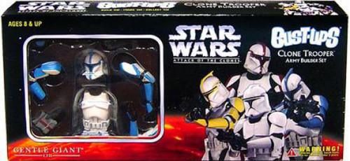 Star Wars The Clone Wars Bust-Ups Set of 4 Clone Trooper Army Buider Set Micro Busts