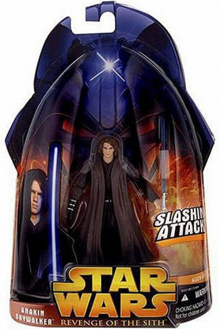 Star Wars Revenge of the Sith 2005 Anakin Skywalker Action Figure #28 [Slashing Attack]