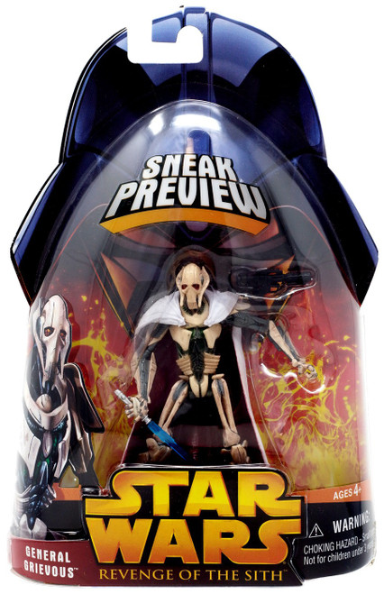 Star Wars Revenge of the Sith 2005 General Grievous Action Figure [Sneak Preview]
