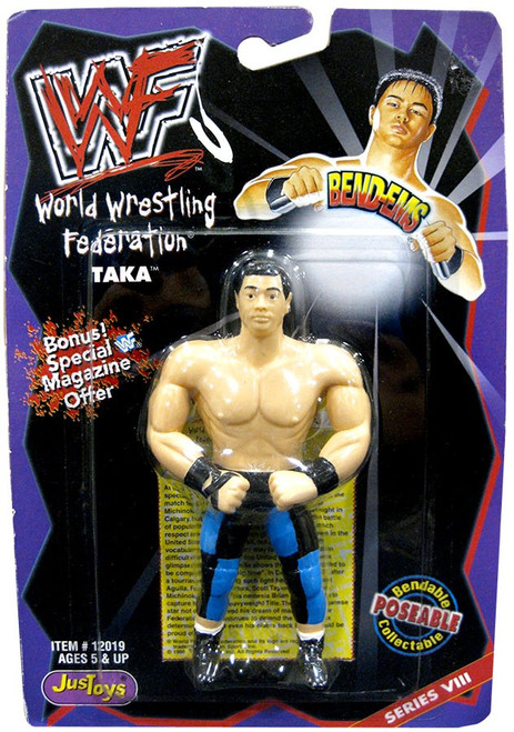 WWE Wrestling WWF Bend-Ems Series 8 Taka Rubber Figure