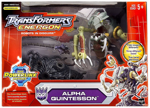 Transformers Energon Powerlinx Battles Mega Alpha Quintesson Action FIgure
