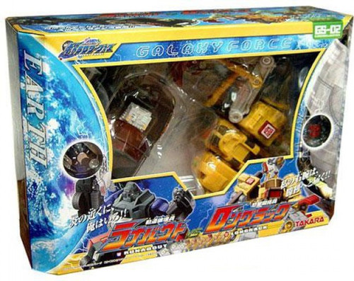 Transformers Japanese Galaxy Force Runabout vs. Longrack Action Figure Set GS-02