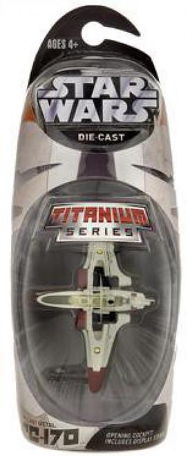 Star Wars The Clone Wars Titanium Series 2007 ARC-170 Exclusive Diecast Vehicle [Red Trim]