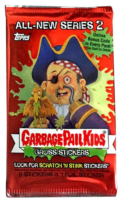 Garbage Pail Kids Topps All-New Series 2 Trading Card Sticker Pack [Unpriced, 8 Stickers & 1 Foil Sticker]