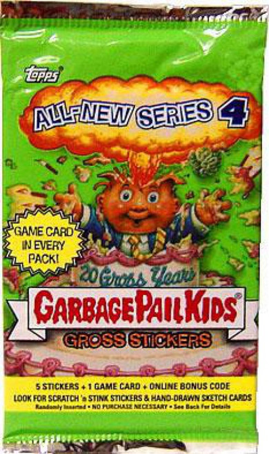 Garbage Pail Kids Topps All-New Series 4 Trading Card Sticker Pack