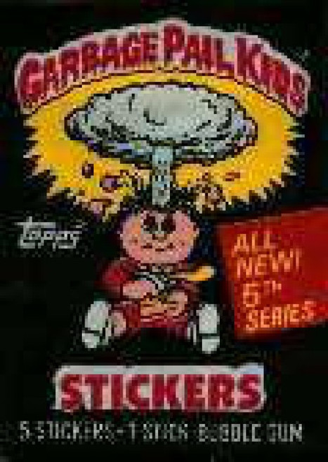 Garbage Pail Kids Topps Series 5 Trading Card Sticker Pack