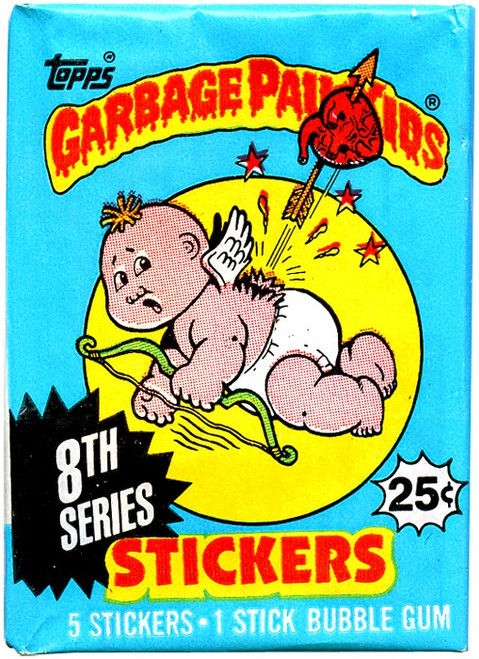 Garbage Pail Kids Topps 8th Series Trading Card Sticker Pack [5 Stickers]