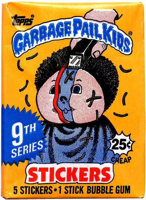 Garbage Pail Kids Topps Series 9 Trading Card Pack [5 Stickers!]