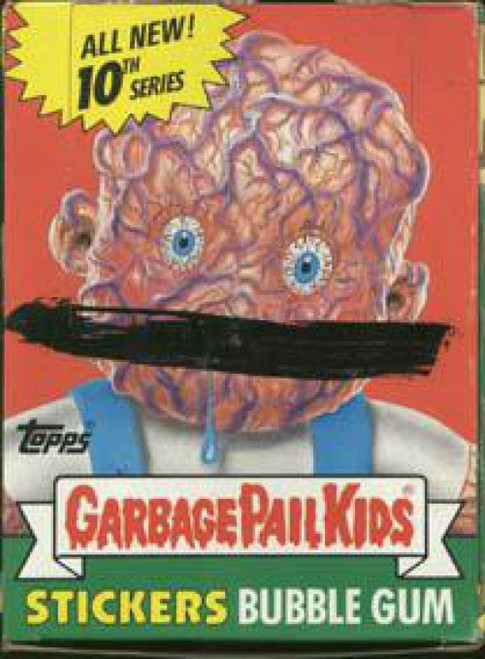 Garbage Pail Kids Topps Series 10 Trading Card Sticker Box