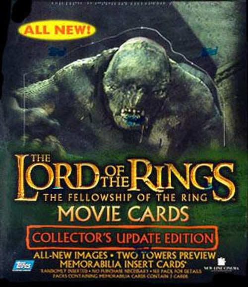 The Lord of the Rings Topps Movie Collector's Update Edition The Fellowship of the Ring Trading Card Box [36 Packs]