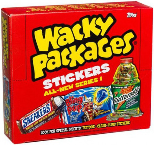 Wacky Packages Topps All-New Series 1 Trading Card Sticker Box [24 Packs]
